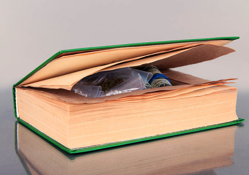 book used to conceal drugs